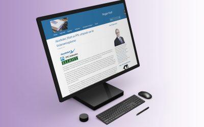 Website voor advocaat Rogier Wolf