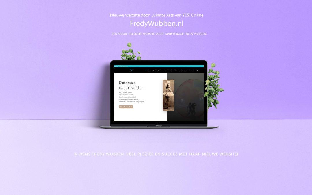 Website voor Fredy Wubben